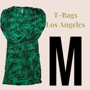 Medium T Bags LA Green & Black Dress